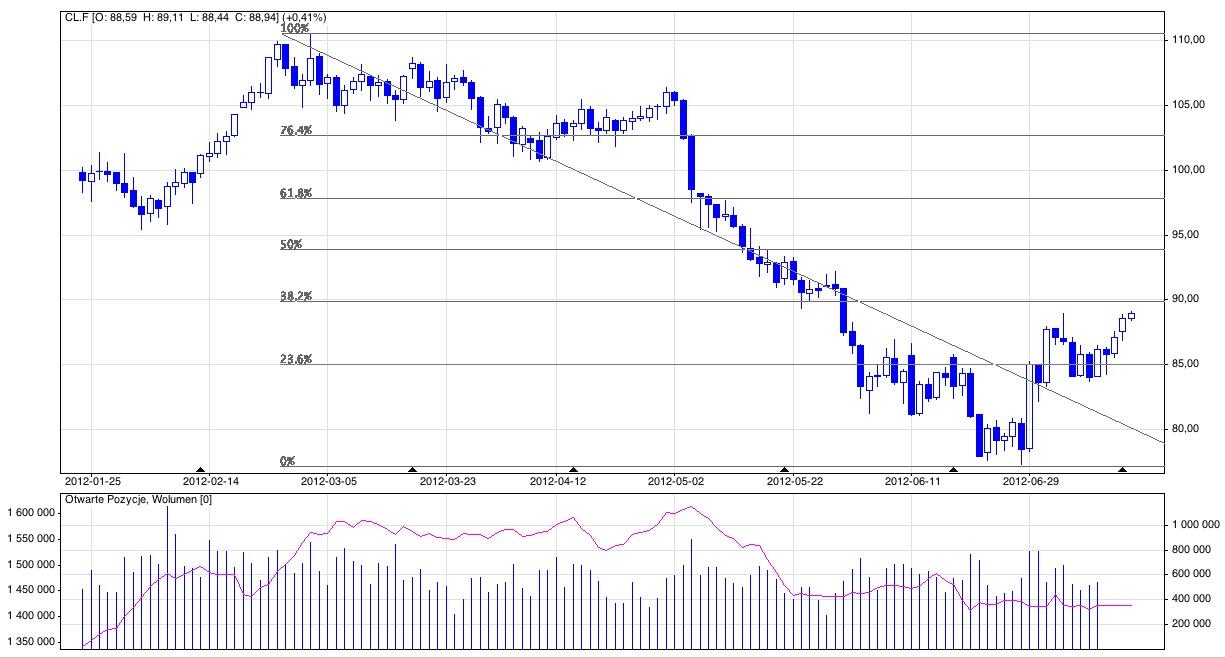 Analiza techniczna ropy typu crude
